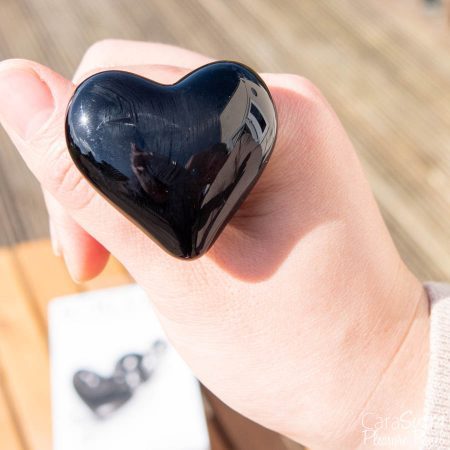 Glaçons No 74 - Verre noir en forme de coeur